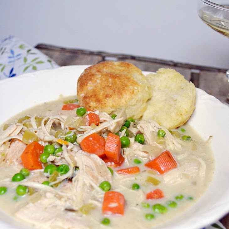 Slow Cooker Creamy Chicken with Biscuits Recipe | Yummly