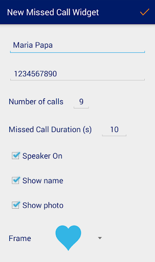 Missed Call Widget