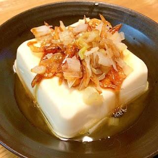 Crispy Tofu with Sakura Shrimps and Sesame Oil