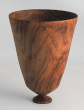 "Photo: Elliot Schantz 5"" x 7"" end grain vase [rosewood]"