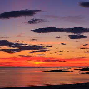 Sunset in the North Atlantic. by Kenneth Pettersen - Landscapes Sunsets & Sunrises
