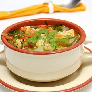 Soup With Vegetables And Chicken