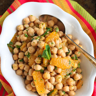 Citrus & Chickpea Salad Recipe with Lemon Herb Dressing {Healthy New Year Challenge - Week 4} Recipe