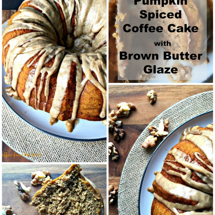 Pumpkin Spiced Coffee Cake with Brown Butter Glaze Recipe