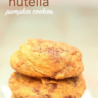 Nutella Pumpkin Cookies