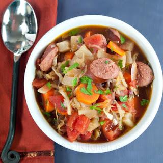 Cabbage And Kielbasa Soup.