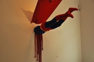 """Photo: Deschler Galerie: Patricia Waller Broken Heroes """"Superman"""""""