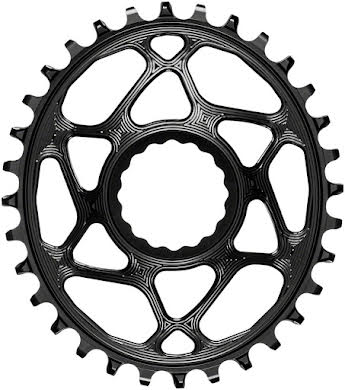 Absolute Black Oval Narrow-Wide Direct Mount Chainring - CINCH Direct Mount, 3mm Offset alternate image 2