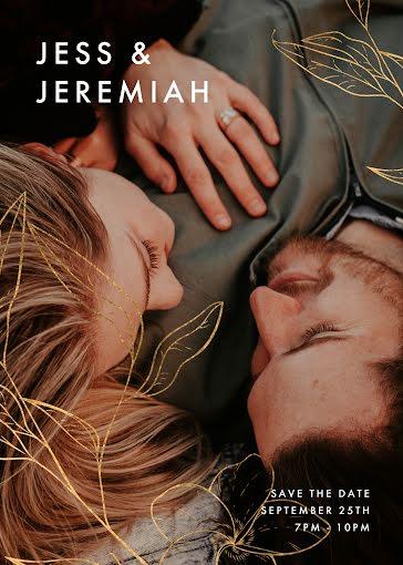 Jess & Jeremiah's Wedding - Wedding Invitation Template