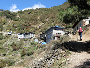 Photo: Arriving to Namche Bazar