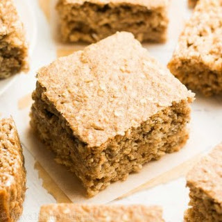 Healthy Banana Oatmeal Snack Cake.