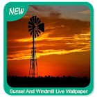 Sunset And Windmill Wallpaper icon