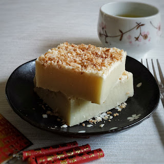 Baked Coconut Sticky Rice Cake for Lunar New Year.