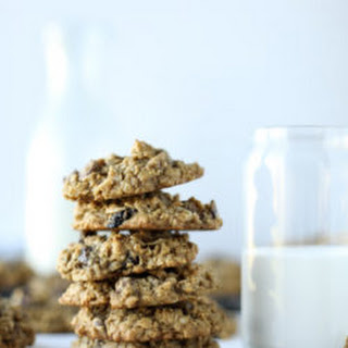 Bourbon Soaked Cherry Oatmeal Chocolate Chip Cookies.
