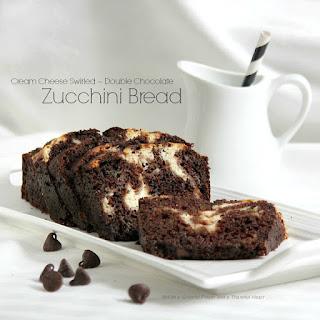 Cream Cheese Swirl ~ Double Chocolate Zucchini Bread.