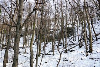 Photo: Leszakadt kőfalak az Asztal-hegy (432m) csúcsa alatt.