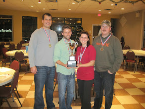 Photo: Direct Energy Bowling Champs (Aaron Dobson, Bryan Fracassi, Nicole LeGallez, Doug Armstrong)