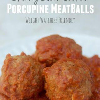 4-Ingredient Skinny Slow Cooker Porcupine Meatballs Recipe – 6 WW Freestyle SmartPoints Recipe