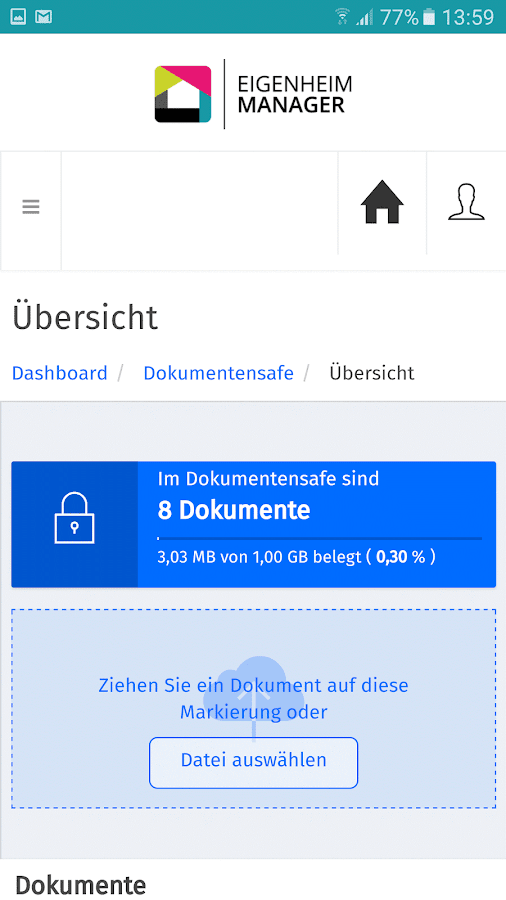 Eigenheim Manager- screenshot