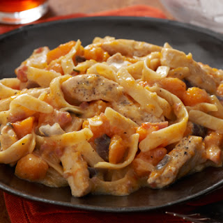 Chicken & Butternut Squash Alfredo.