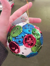 Photo: Do you have DIYers to buy for this year?  Check out these perfect ornaments!  This button covered ornament would be perfect for anyone who sews.