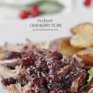 Crockpot Cranberry Pork