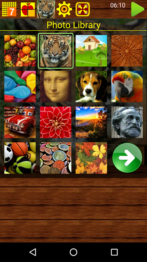 SLIDE PUZZLE- screenshot