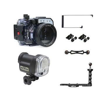 SONY RX100 VA SEAFROGS (STROBE+ARM+OPTICAL CABLE)