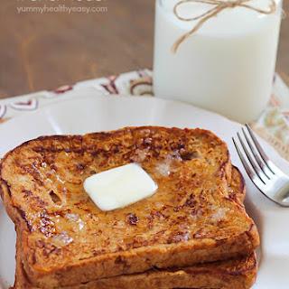Healthier Pumpkin French Toast