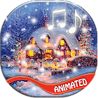 Christmas Songs Live Wallpaper with Music icon