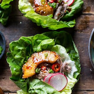 Korean Pineapple Pork Lettuce Wraps..