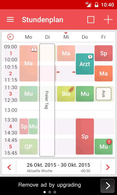 TimeTable++ Stundenplan – Screenshot