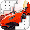 Fast Car Color By Number: Pixel Art APK Icon