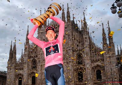 """Tao Geoghegan Hart maakt zijn meest wilde dromen waar in de Giro: """"Bradley Wiggins gaf me super advies"""""""