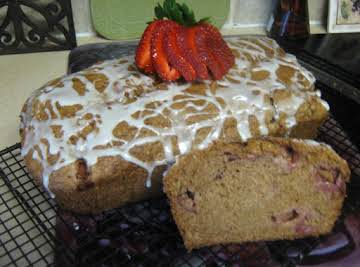 Strawberry Bread w/Key Lime Glaze
