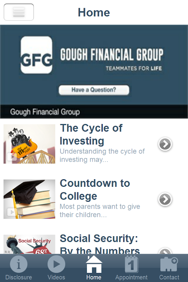 Gough Financial Group- screenshot