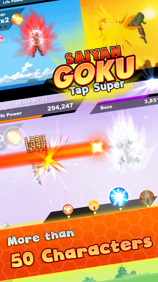 Saiyan Goku Tap Super Z- screenshot
