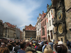 Photo: Huge crowds gather in front of the clock