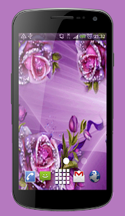 Purple Roses Live Wallpaper Theme - náhled