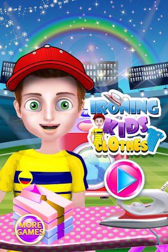 子供服のクリーニングゲーム