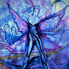 The dancer by Vesna Disich - Painting All Painting ( watercolor, dance, dancer )