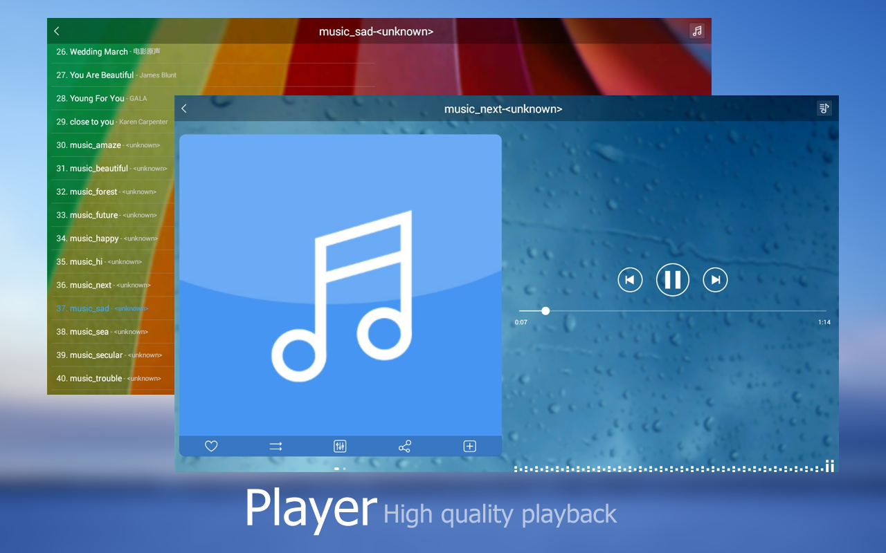 Music Player +- screenshot