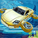 Underwater Flying Car Game icon