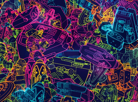 Retro Robots Theme