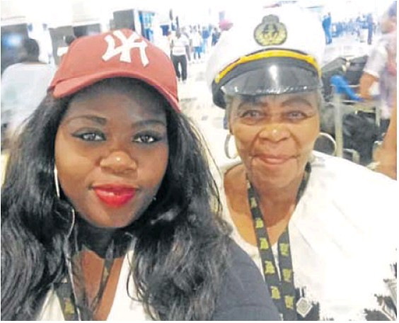 Fundiswa Ngxasheka and Jane Madwara on their cruise abroad