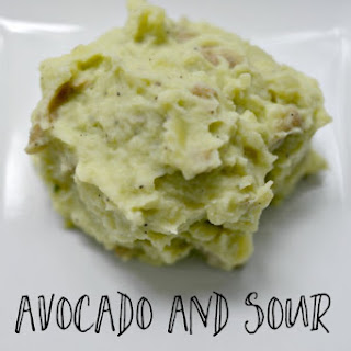 Avocado and Sour Cream Mashed Potatoes.