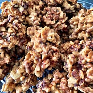 Peanut Butter Rice Krispie No-Bake Cookies (Gluten Free)
