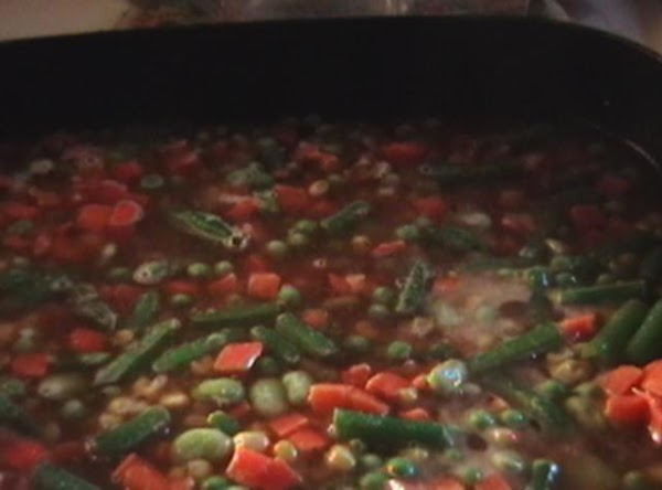 Put your water bouillon into the pan or you can use chicken stock which...
