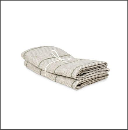 Handduk Marulk natur-bladgrön