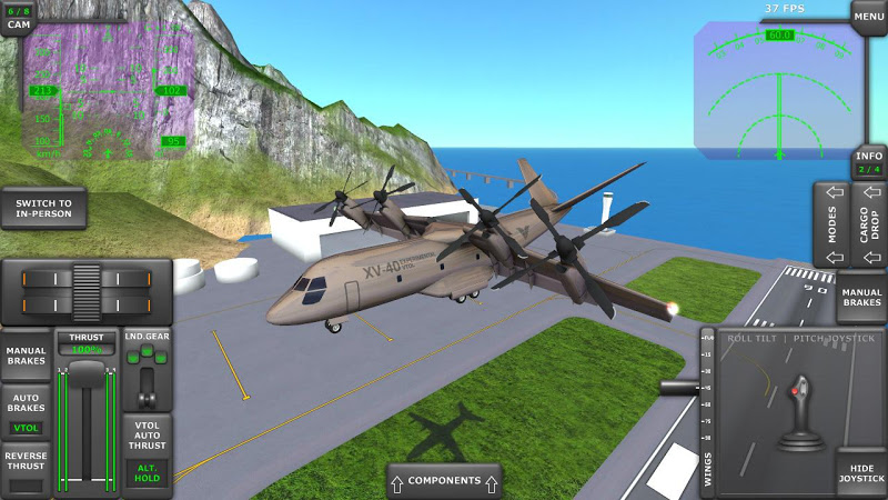 Turboprop Flight Simulator 3D Screenshot 3